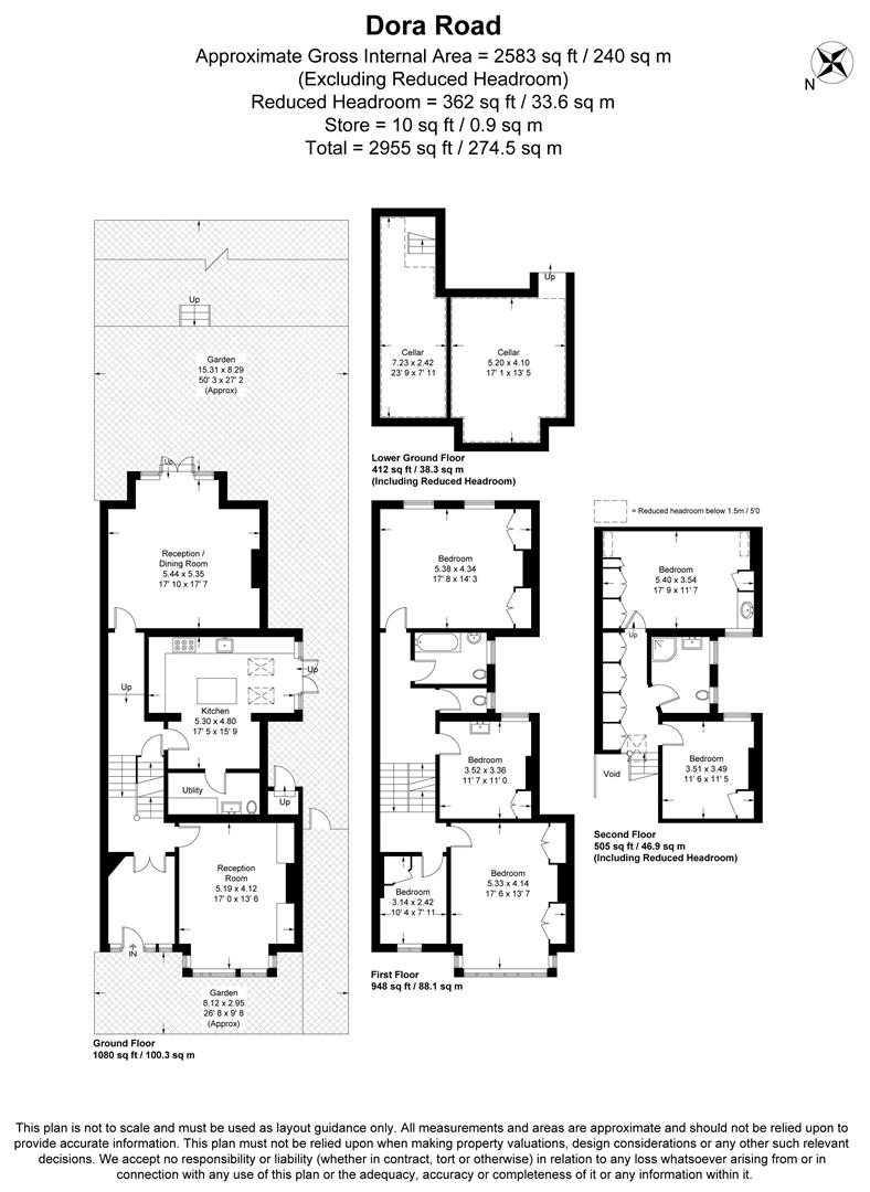 Floorplan for Dora Road, Wimbledon